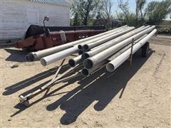 Irrigation Pipe Trailer W/Misc. Pipe