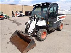 """2014 Bobcat 5600 Toolcat All Wheel Steer UTV W/Loader & 68"""" Bucket"""