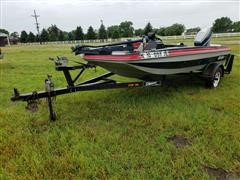 1987 Bomber 14' Fishing Boat With Trailer