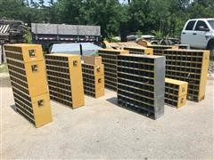 Miscellaneous Nut & Bolt Storage Bins W/ Hardware