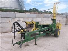 John Deere 3960 Pull Type Forage Harvester 2 Row Wide Corn Header