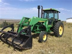 1975 John Deere 4430 2WD Tractor W/Buhler 795 Loader 8' Bucket And Grapple