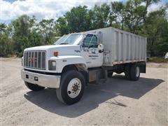 1990 GMC TopKick S/A Dump Truck W/15' Aluminum Box