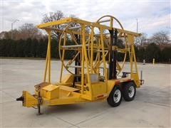 2003 Hoosier PLCS Coil Pipe T/A Trailer W/Re-Rounder-Straightener
