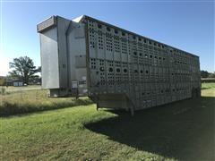 """2002 Merritt Gold Line 50' X 102"""" T/A Livestock Trailer"""