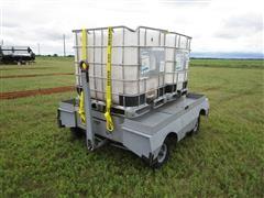 HD 4-Wheel Fuel Trailer W/(2) 250-Gallon Liquid Totes