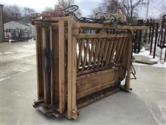 C&S Rotary Processor Hydraulic Head/Squeeze Cattle Chute