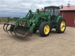1994 John Deere 7800 MFWD Tractor W/Loader