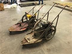 Antique Wooden Deck Lawn Mowers