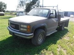 1994 Chevrolet K2500 4x4 Flatbed Pickup W/Bale Spike