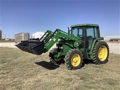 1993 John Deere 6400 MFWD Tractor W/Loader