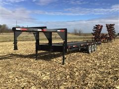 1990 Homemade 30' Tri/A Gooseneck Trailer