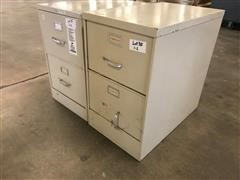 2 Drawer Metal Filing Cabinets