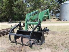 Great Bend 760 Quick Tach Front End Loader, 7' Bucket W/Grapple