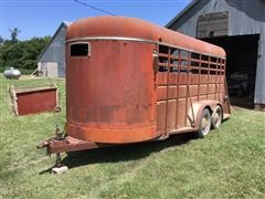 1981 Travalong Bumper Hitch 16' T/A Livestock Trailer