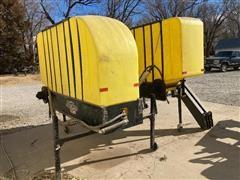 Demco SideQuest 500 Gal Hub Mount Saddle Tanks