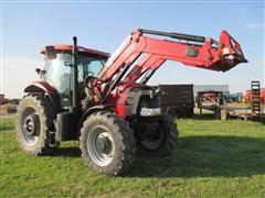 2012 Case IH PUMA 160 MFWD Tractor w/ Case IH L765 Front End Loader