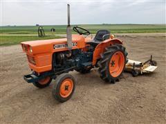 1977 Kubota L1801 2WD Tractor W/Finishing Mower