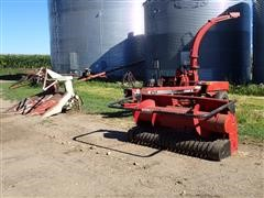 Case IH 8725 Pull-Type Forage Harvester W/3RN Corn And 6' Pickup Heads