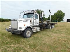 2006 Western Star 4900 Tri/A Truck W/Cancade Ltd Round Bale Mover