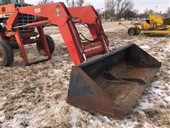 International 2350 Mount-O-Matic Loader W/Bucket & Forks