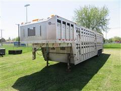 2012 Barrett 32' Double Deck Tri/A Aluminum Livestock Trailer