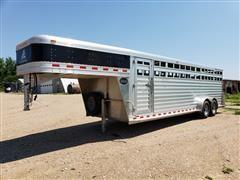 2013 Elite Alumninum T/A 24' Livestock Trailer