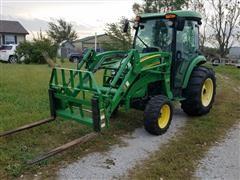 2006 John Deere 4720 MFWD Tractor W/400CX Loader, Bucket & Forks