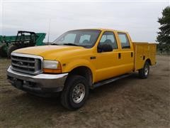 2001 Ford Super Duty F250 4x4 Crew Cab Service Pickup
