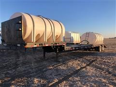 1995 Neville 49' Drop Deck Trailer w/ Poly Tanks And Pump