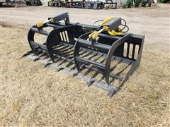 Mid-State Rock/Brush Grapple Skid Steer Attachment
