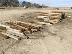 Treated Wooden Fence Posts