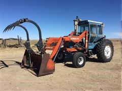 1973 Ford 9600 2WD Tractor With 3600 Dual Loader