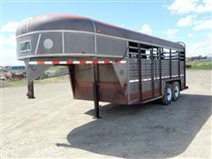1986 Kiefer Built SSG716-86 T/A Livestock Trailer