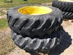 John Deere 18.4-38 Rims W/Goodyear Tires