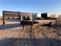 1990 Travalong 8 1/2x28 Gooseneck Tri/A Flatbed Trailer