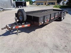 1995 Eagle Mfg 7 X 22 F T/A Utility Trailer
