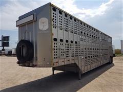 1997 Merritt Cattle Pot T/A Livestock Trailer