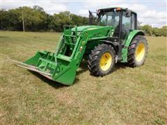 2013 John Deere 6125M MFWD Tractor W/ JD H340 Loader
