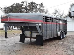 1993 Diamond D T/A Livestock Trailer