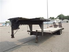 1985 Specially Constructed 28' T/A Gooseneck Trailer W/Ramps