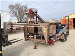 2008 T/A Flatbed Trailer Gustafson SRW800 Mobile Seed Treater