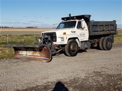 1985 Ford F8000 Dump Truck W/Plow