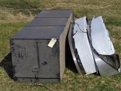 Stainless/Aluminum Trailer Fenders W / Trailer Tool Box