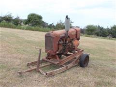 Century Antique Generator On Shop Built Trailer