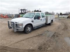 2008 Ford F350XLT Super Duty Crew Cab Service Truck