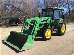 2015 John Deere 5065E MFWD Tractor W/H240 Loader