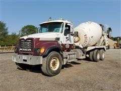 2001 Mack CV513 T/A Concrete Transit Mixer Truck W/Booster