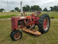 1949 Farmall C 2WD Tractor W/Belly & Sickle Mowers