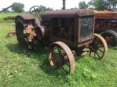 1929 McCormick-Deering 22-36 2WD Tractor On Steel Wheels